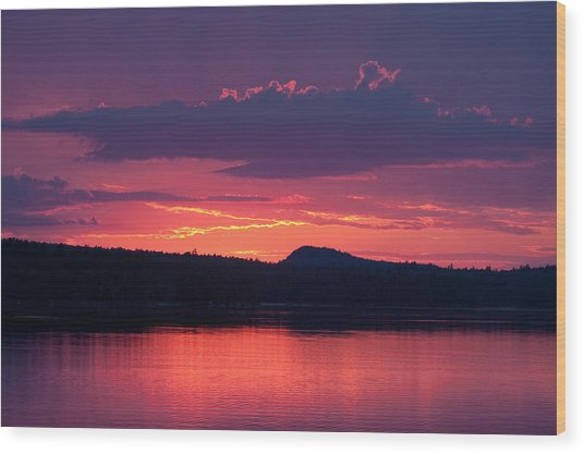 Sunset Over Sabao Wood Print