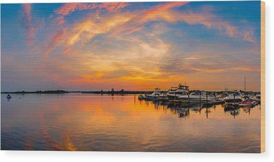 Sunset Over Shrewsbury Bay Wood Print