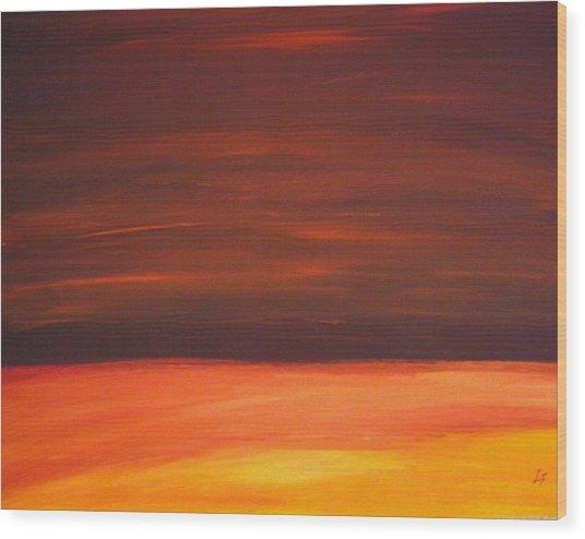 Sunset Over The Sandhills Wood Print by Leonard Frederick