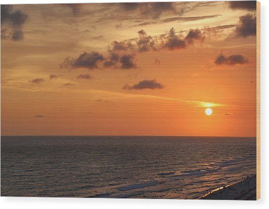Sunset Panama City Florida Wood Print