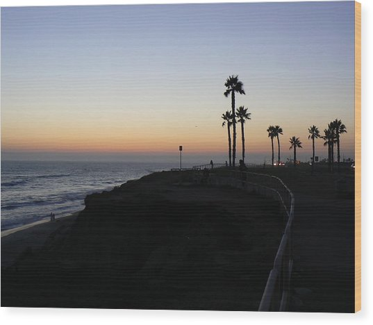 Sunset Pch 2006 Wood Print by Ron Hayes