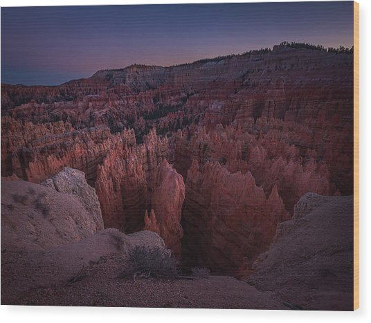 Sunset Point Wood Print