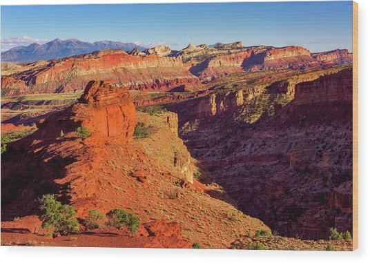 Sunset Point View Wood Print