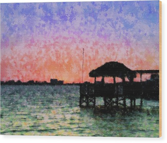 Sunset Prism Wood Print by Florene Welebny