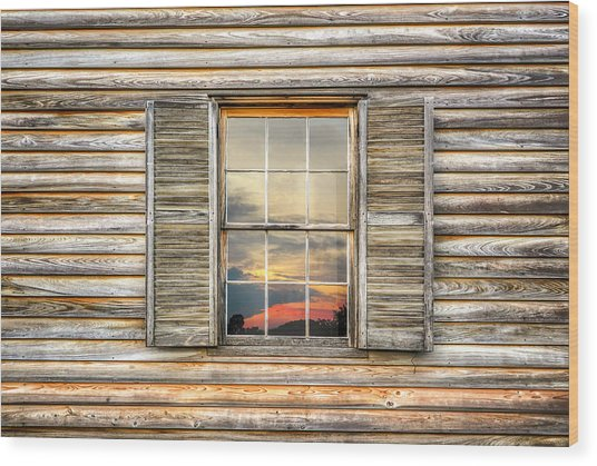 Wood Print featuring the photograph Sunset Reflection by Ryan Wyckoff