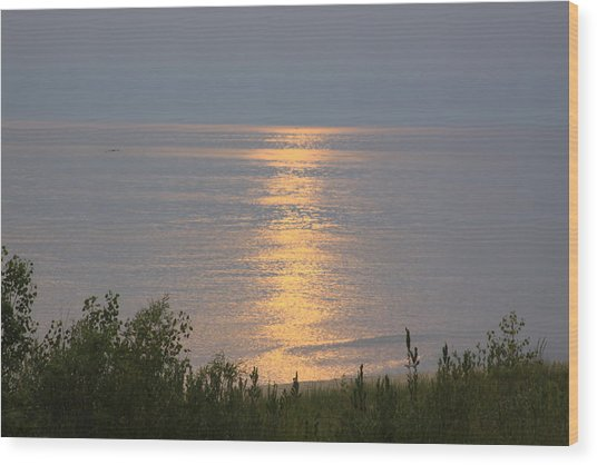 Sunset Reflections Wood Print by Chuck Bailey