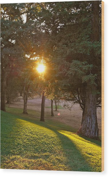 Sunset Retreat Wood Print