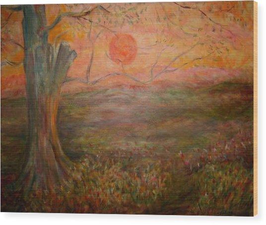 Sunset Rev. Wood Print by Joseph Sandora Jr