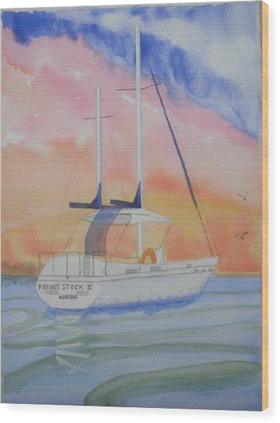 Sunset Sail 2 Wood Print by Warren Thompson