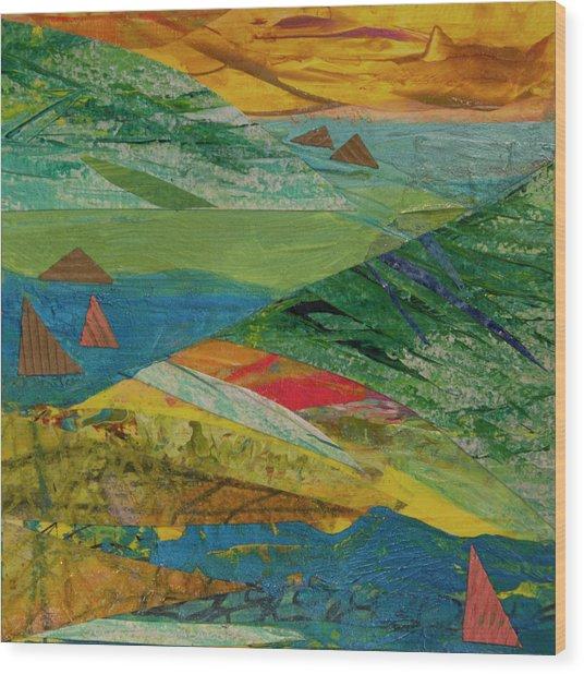 Sunset Sails 3 Wood Print