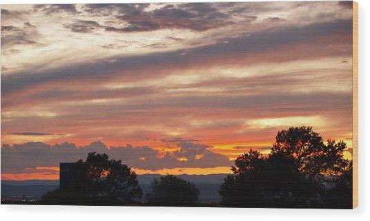 Sunset Santa Fe Wood Print by James Granberry