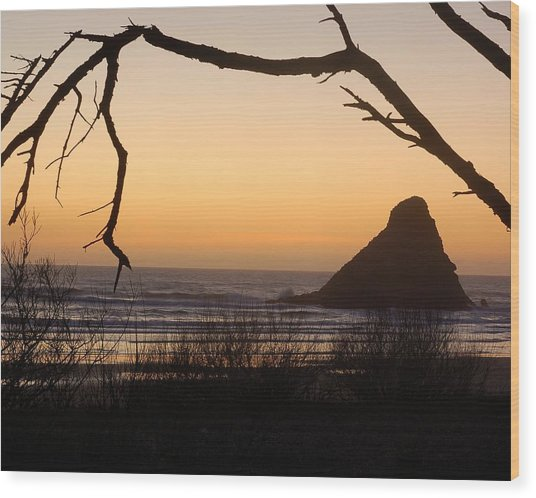 Sunset  Wood Print by Scott Gould
