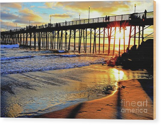 Sunset Shimmer Wood Print