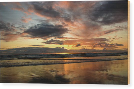 Sunset Split Wood Print