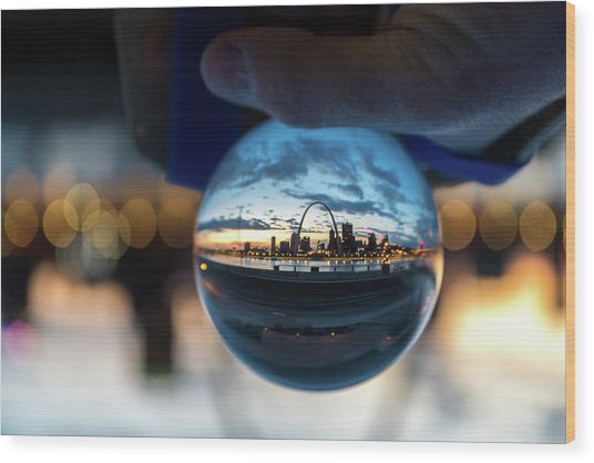 Wood Print featuring the photograph Sunset St. Louis II by Matthew Chapman