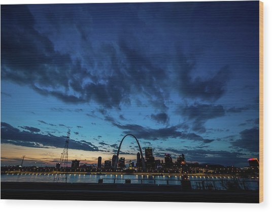 Wood Print featuring the photograph Sunset St. Louis IIi by Matthew Chapman
