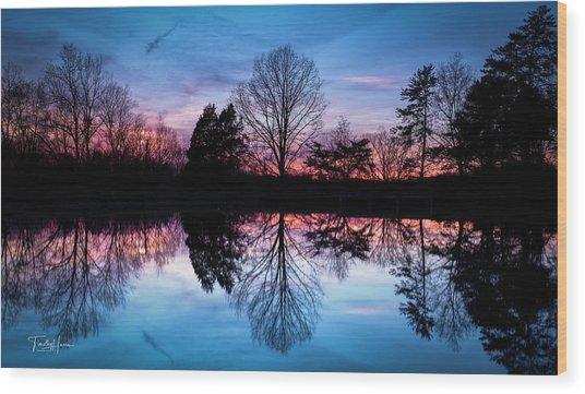 Sunset Symmetry Wood Print