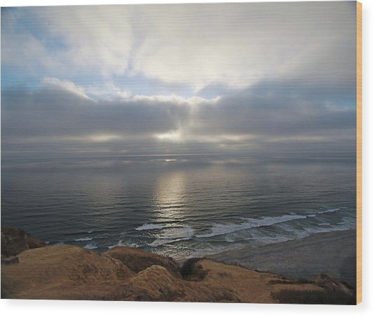Sunset Torrey Pines Number One Wood Print