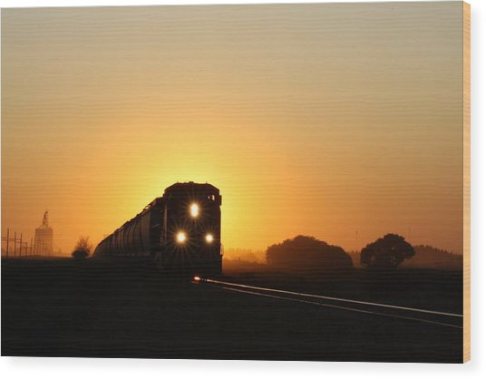 Sunset Express Wood Print