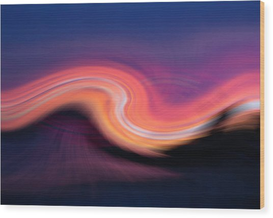 Sunset Twirl Wood Print