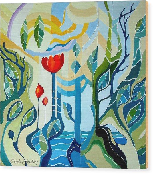 Sunshine Wood Print by Carola Ann-Margret Forsberg