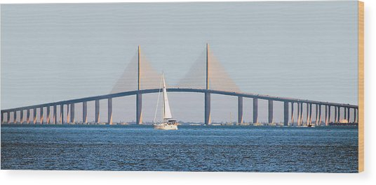 Sunshine Skyway Bridge #2 Wood Print