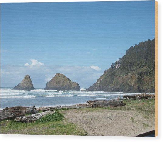 Sunshine Waves Wood Print by Justin  Randy