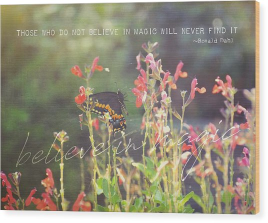 Sunstruck Quote Wood Print by JAMART Photography