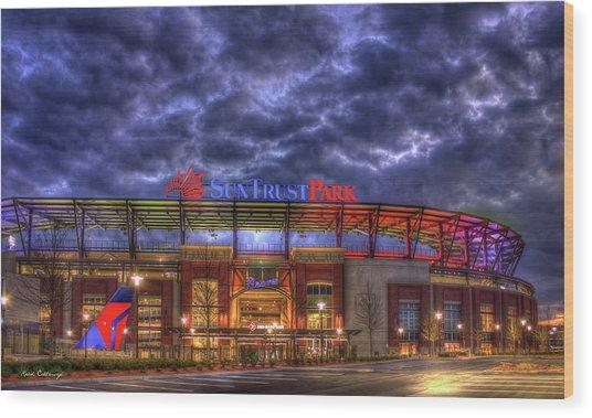 Suntrust Park Unfinished Atlanta Braves Baseball Art Wood Print
