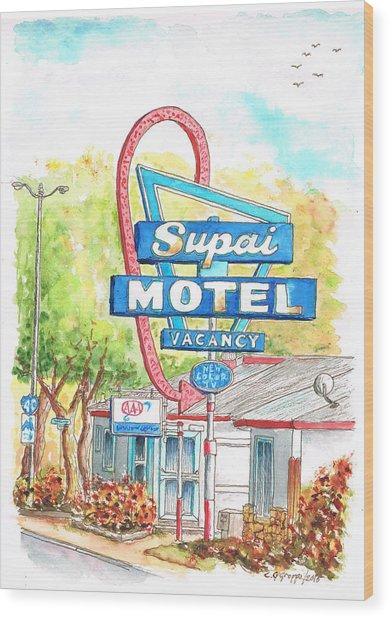 Supai Motel In Route 66, Seliman, Arizona Wood Print