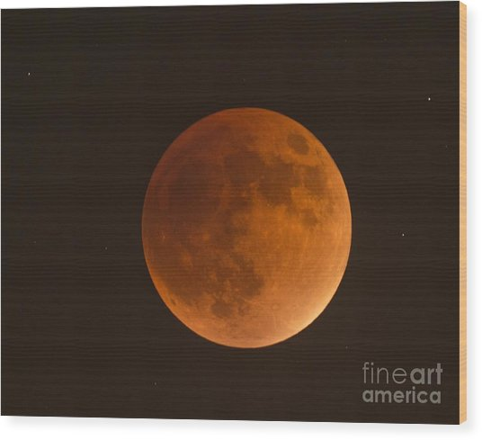 Super Blood Moon Wood Print