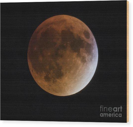 Super Blood Moon Lunar Eclipses Wood Print