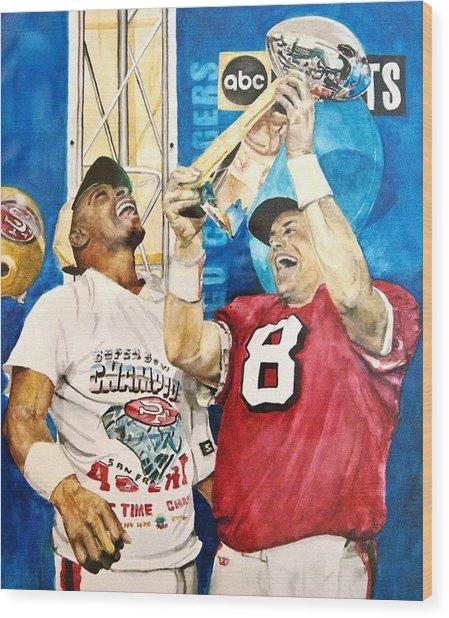 Super Bowl Legends Wood Print