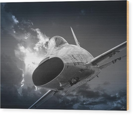 Super Sabre Rolling In On The Target Wood Print