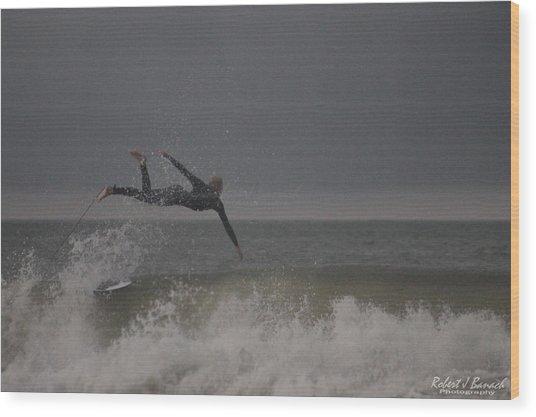 Super Surfing Wood Print