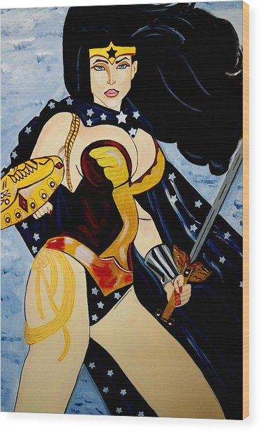 Wonder Women Wood Print