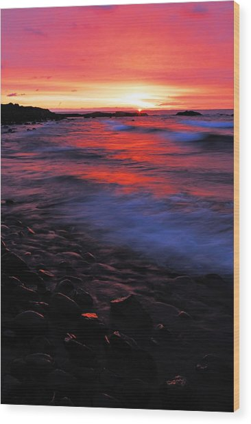 Superior Sunrise Wood Print