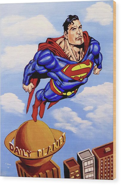 Superman Wood Print