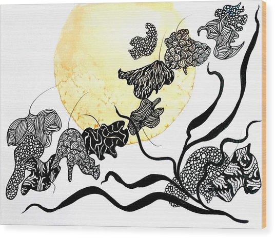 Supermoon-struck Wood Print