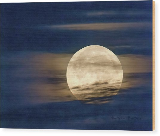 Supermoon Wood Print