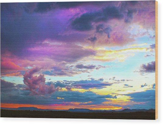Supernatural Sky - Colorado Wood Print