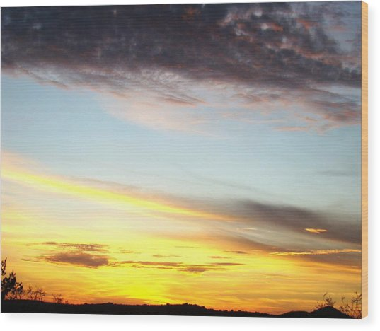 Supernatural Sunset One Wood Print by Ana Villaronga