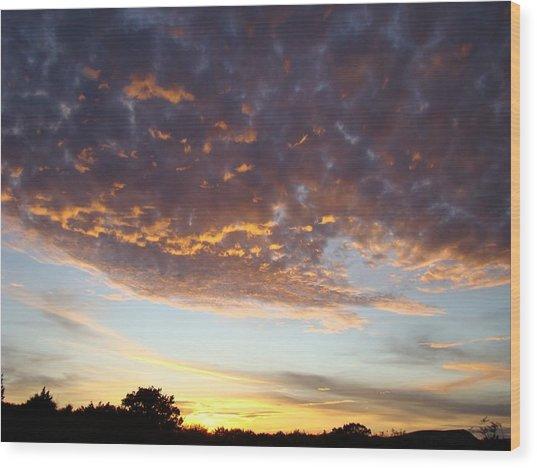 Supernatural Sunset Two Wood Print by Ana Villaronga