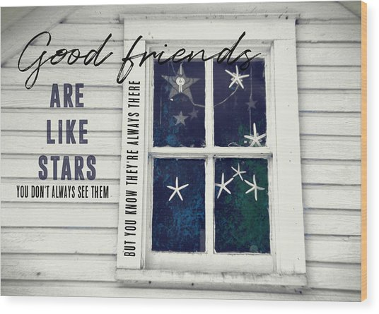 Superstars Quote Wood Print by JAMART Photography
