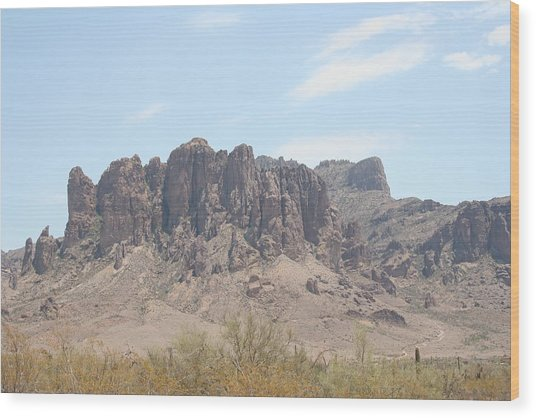 Superstition Mountain Wood Print by Gregory Jeffries