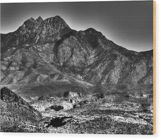 Four Peaks From Lost Dutchman State Park Wood Print
