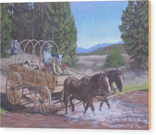 Supply Wagon Wood Print