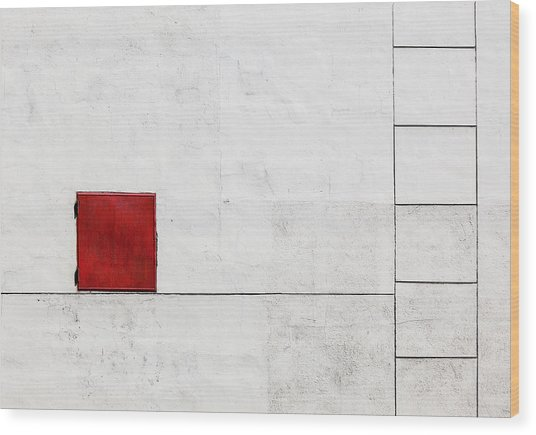 Suprematism Is All Around Wood Print
