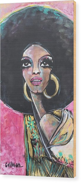 Wood Print featuring the painting Supreme Love For Diana Ross by Laurie Maves ART