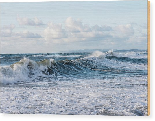 Surf And Sky Wood Print